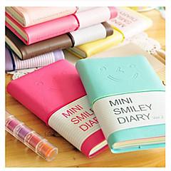 cara mini notebook sorriso colorido diário (cor aleatória)