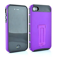 2 in 1  Point Robot Style PC and TPU Composite Case for iPhone 4/4S(Assorted Colors)