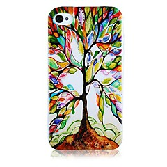 Tree of Restoration Pattern Silicone Soft Case for iPhone4/4S