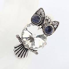 Europe and The United States Exaggerated Personality Owl Adjustable Ring