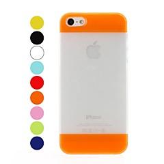 Bata Cor Patchwork fosco & cintilante Soft Case Pó Efeito TPU para iPhone 5/5S
