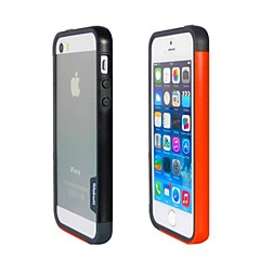 Mode double couleur TPU Bumper Frame pour iPhone5S (noir + orange)
