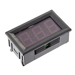 Tarkka Jännite Panel Meter kanssa 3 LED-näyttö (musta, DC3.2 ~ 30V)