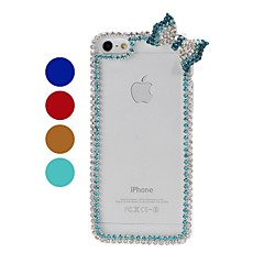 Bow Chain Frame with Rhinestone Pattern Plastic Hard Case for iPhone 5/5S