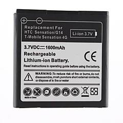 1600mAh batterie de remplacement pour HTC Sensatinn/G14