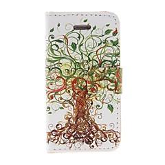 Kinston Art puu kuvio PU Leather Full Body Case telineellä iPhone 4/4S