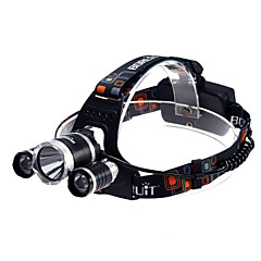 פנסי 3XT6 נטענת T6 3xCree XM-L 3-Mode Waterproof (2x18650, 3800LM) שחור