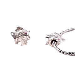 Fish Alloy Whorled Big Hole DIY Beads For Necklace or Bracelet