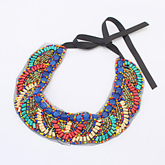 Luxury Exaggerate Boho Style National Hand Made Collar For Women Dress,Colorful Beads Choker Statement Necklaces