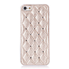 3D Rhombus Cotton Designet Diamond Look PC Hard Case for iPhone 5/5S (assorterede farver)