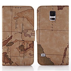 Karta Ocean Pattern Card Slot Stand Leather Case za Samsung Galaxy S5 I9600