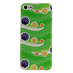 Beach and Shell Pattern PC Hard Case with Transparent Frame for iPhone 5/5S
