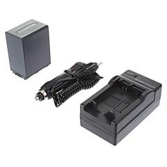 ismartdigi-Sony NP-FH100 3900mAh, 7.2V batteri + billader for SONY HDR-SR11E SR12E XR100E XR5