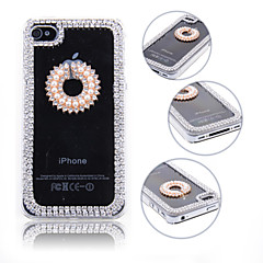 3D Pearl Circle Design Back Case for iPhone 4/4S
