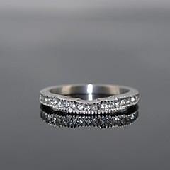 Роскошные женские корона форма блестят кубического циркония камни кольца