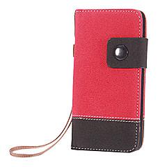 아이폰 5/5S를위한 카드 슬롯과 스트랩 (분류 된 색깔)를 가진 두 배 색깔 PU 가죽 가득 차있는 몸 케이스