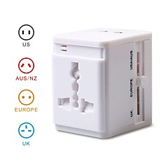 Universal Travel Power Adapter Converter for AU/UK/US/EU Plug with Dual USB Charger