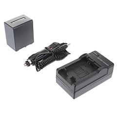 ismartdigi-Sony NP-FV100 3900mAh, 7.2V batteri + billader for SONY CX700E/PJ50E/30E/10E/CX180E/VG10E/FV70/FV50