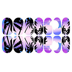12PCS Romantic Bluish Violet Moonlight Luminous Nail Art Stickers