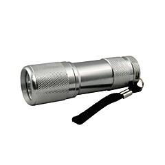 Hunterseyes 9 LED는 살균 / 현금 / 안티 - 가짜 / 형광 제 검출 플래쉬 그레이 395-400NM 블랙 라이트 손전등 UV