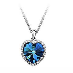 Γυναικεία Κρεμαστά Κολιέ Ζιρκονίτης Cubic Zirconia Στρας Κράμα Heart Shape Μοντέρνα Μπλε Κοσμήματα Πάρτι Καθημερινά Causal 1pc