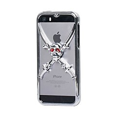 GeekRover 3D vitória do crânio do metal Hard Case para iPhone 5/5S (cores sortidas)