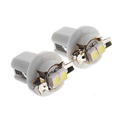 T5 B8.5 Car Led Indicator Light Dashboard Side Interior Bulb, 2PCS/Lot
