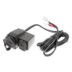 Moto Auto Car Charger USB 12v impermeabile accendisigari presa di alimentazione