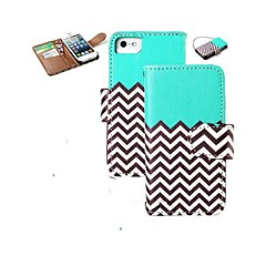 PU Leather Magnet Wallet Titular Creadit flip Fique Chevron Capa Waves Pattern Capa iPhone 5G/5/5S