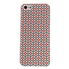 Honeycomb Check Pattern PC Hard Case with Transparent Frame for iPhone 5/5S