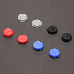 A Set 8 Pcs Thumb Stick Grips for PS4(2 PCS in White, 2PCS in Black,2PCS in Red, 2PCS in Blue)