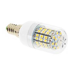 7W E14 Lâmpadas Espiga T 60 SMD 2835 550-680 lm Branco Quente AC 220-240 V