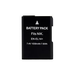 камера аккумуляторная батарея EN-EL14 для Nikon D3100 D5100 D3200 P7000 P7100 (7,4 1030mah)