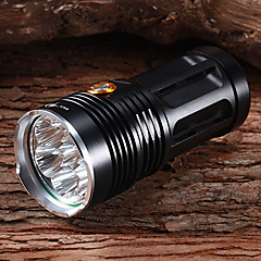 Lanterns & Tent Lights LED 3 Mode 6300 Lumens Waterproof / Rechargeable / Self-Defense Cree XM-L T6 18650 Multifunction - Others , Black