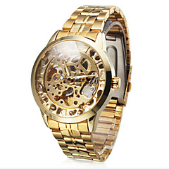 Men's Watch Auto-Mechanical Hollow Engraving Full Stainless Steel Band Cool Watch Unique Watch