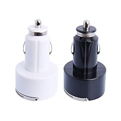 Round Portable Car Charger for iPhone/iPad/iPod (2xUSB 2.0, 5V 3.1A)