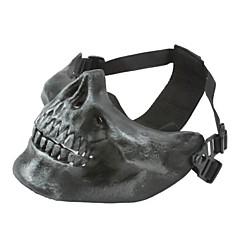 은 회색 절반 얼굴 해골 마스크