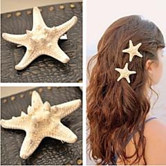 shixin® europese zeester vorm wit cowry haarspeldjes voor vrouwen (ramdon grootte) (1 st)