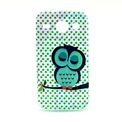 Sleeping Owl Pattern Soft Case for Samsung Galaxy Core I8262