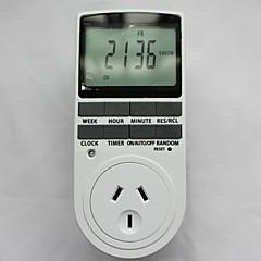 TIMER-AU Plug in temporizador programable interruptor 24h 7 LCD Día Semana del indicador digital de la CE