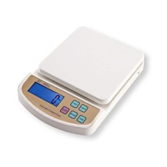 LCD Digital Kitchen Scale (5kgx1g, 2xAA batterij)