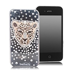 HOHONG (TM) Bling Leopard Covered Rhinestones Case for iPhone 4 / 4S