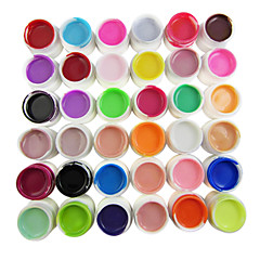 36-Color cores puras 8ml Nail Art Gel UV Builder para Manicure Nails Dicas