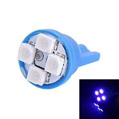T10 4W 120LM 4 × 3528 SMD LED Bleu pour Lampes tableau de bord de voiture / porte / Tronc (12V DC, 1pcs)