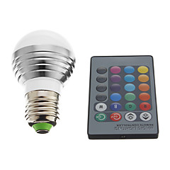 3W E26/E27 LED Globe Bulbs 1 High Power LED 240 lm RGB AC 220-240 V