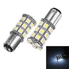 Merdia 1157 5W 40lm 27x5050SMD LED White Light for Car Steering /Brake /Tail Light (24V / A Pair)