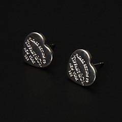 Fashion Hollow Heart Shape  Silver Silver Plated Drop Earrings (1 Pair)