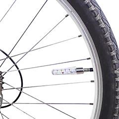 Bisiklet Işıkları Bisiklet Işıkları / tekerlek ışıkları / vana kapağı yanıp sönen ışıklar LED Lümen Pil Bisiklete biniciliği-MOON