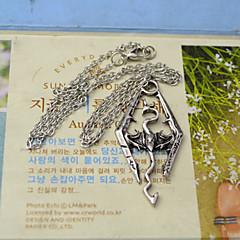 moda shixin® The Elder Scrolls forma de dragón collar pendiente de la aleación de plata (1 unidad)