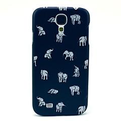 Indiska elefanten Mönster Plast Protective Bak Skal till Samsung Galaxy S4 I9500